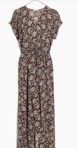 Madewell Estate Floral wrap front maxi dress